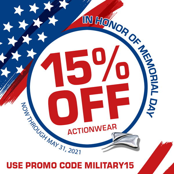 15% Off Memorial Day Actionwear Savings