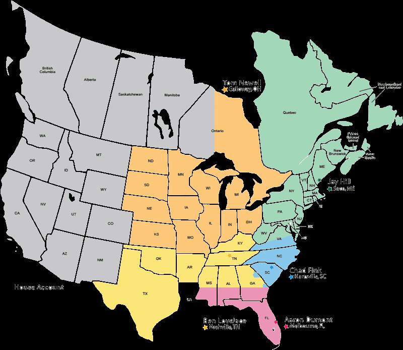 Sales Rep Map