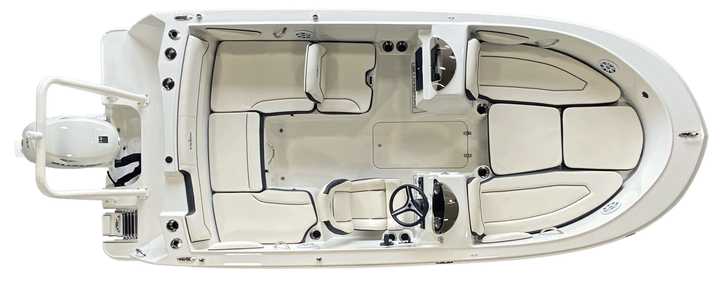 172SC Deck Boat Overhead